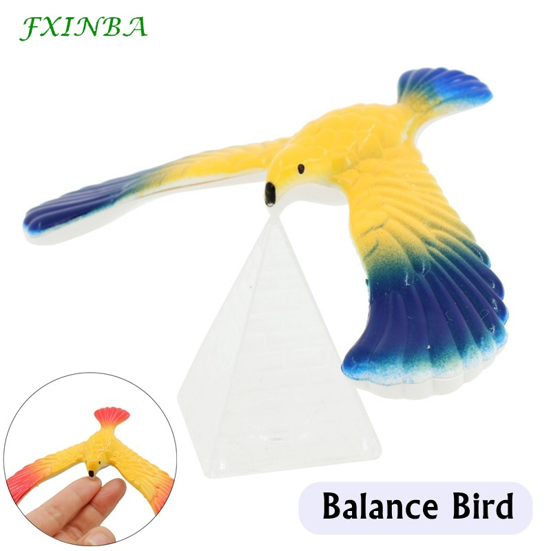 FXINBA Novelty Balance Bird With Crystal Tower Magic Balance Eagle Funny Educational Toys For Kids Gift Prank Random Color