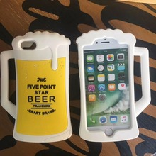 3D Silicone Beer Mug Cell Case for iPhone