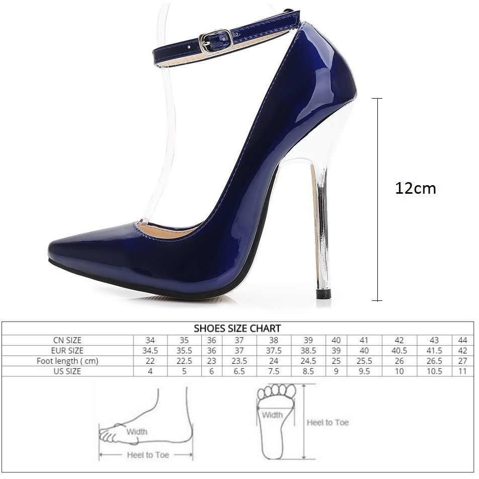 84b91eab936a ... Fletiter женские туфли-лодочки на высоком каблуке 12 см, кожаные женские  туфли-. СОПУТСТВУЮЩИЕ ТОВАРЫ. Брендовая обувь ...