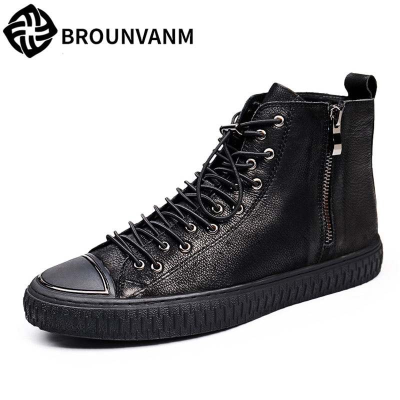 new autumn winter men High shoes boots for Martin boots male leather British men European winter shoes breathable casual boots 2017 new autumn winter british retro men shoes zipper leather shoes breathable sneaker fashion boots men casual shoes