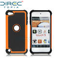 Directopia moda luxo dual layer robusto à prova de choque airbag de borracha grossa capa dura telefone case para apple ipod touch 5 case