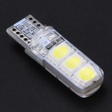 10 PCS W5W T10 SMD5050 LED Waterproof Car Wedge Lights