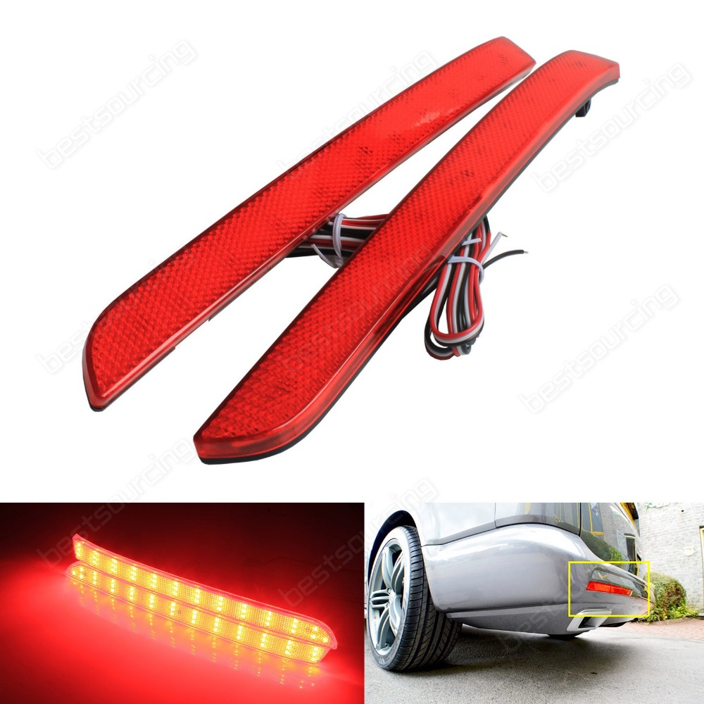 For VW Transporter T5 Multivan Red LED Rear Bumper Reflector Tail Brake Light 12-16 (Fits: VW 2012)
