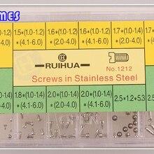 200 шт абсолютно новые винты со шлицем и H шурупы набор-нержавеющая сталь Ассорти Винты Инструменты для ремонта часов