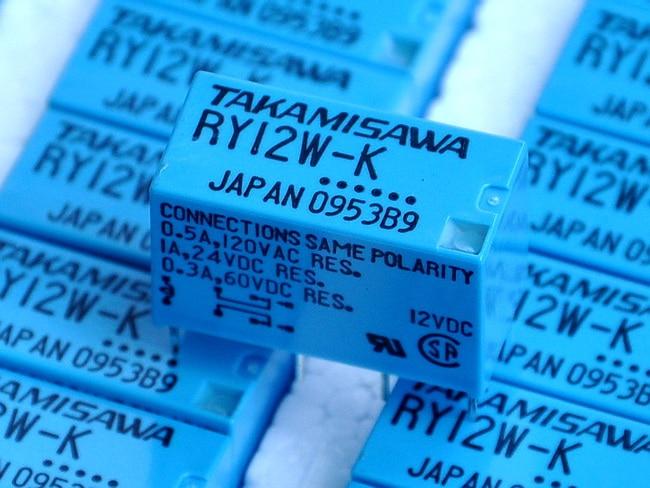 ( 100 Pcs/lot ) TAKAMISAWA RY12W-K 12V DPDT Signal Relay, For Audio