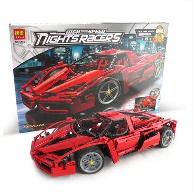 Technic ENZO 1:10 Supercar Car Model Building Block Construction Bricks