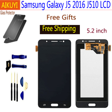 For Samsung Galaxy J5 2016 LCD SM J510F J510FN J510M J510Y J510G LCD Display Touch Screen Digitizer Assembly смартфон samsung galaxy j5 2016 sm j510fn white