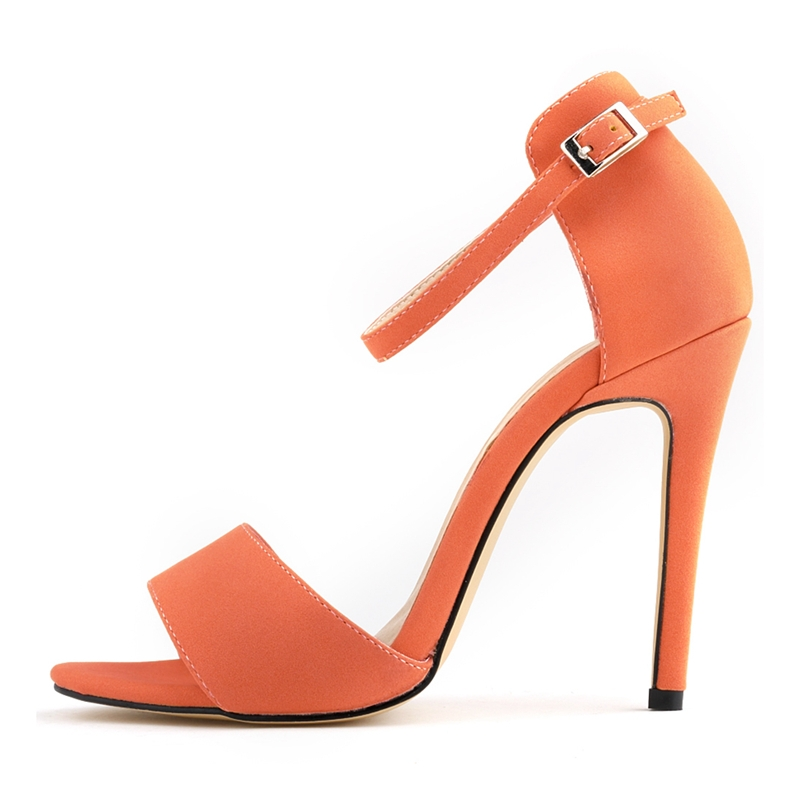 2018 New Fashion Women Ankle Strap Sandals <font><b>Sexy</b></font> Club Party <font><b>Shoes</b></font> High Heels <font><b>11</b></font> CM Slouch Stilettos Buckle Big <font><b>Size</b></font> NLK-C0035 image