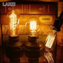 LARZI Retro lamp E27 vintage edison filament light 40W incandescent bulb 220V lamp for home decor bombillas outdoor lighting 4w e27 220v filament led bulb lamp indoor lighting 40w to replace 40w incandescent ce