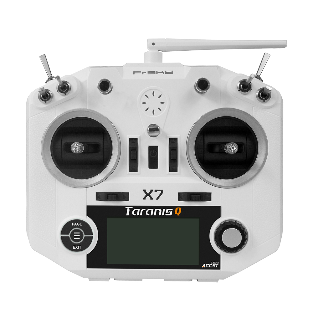 FrSky ACCST Taranis Q X7 2 4GHz 16CH Mode 2 Transmitter Black White With select Receiver