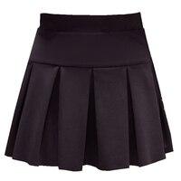 American School Style Fashion Women Elegant Half Pleated Mini Skirts High Waist Casual Girls Short Skirts