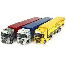 Металлическая Модель автомобиля моделирование 1:50 Масштаб литья под давлением мыс Тип бортовой грузовик транспортер сплав вытяните назад игрушки для детей Подарки