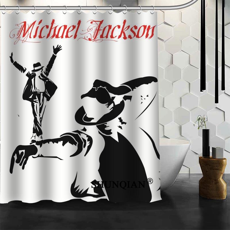 Custom Michael Jackson Shower Curtain High Quality bathroom Accessories Polyester Fabric Curtain With holes
