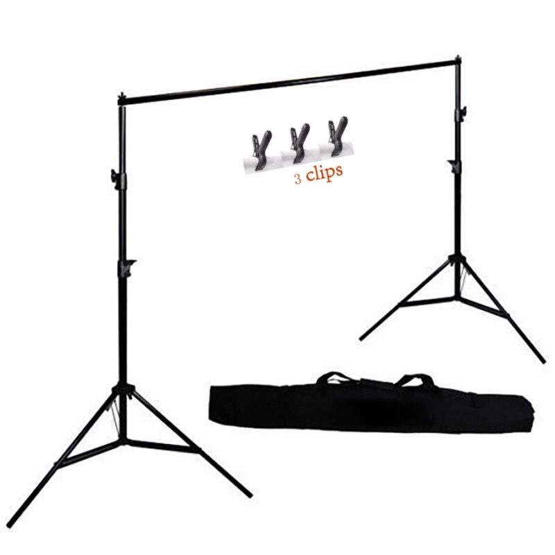 MEHOFOTO Support de fond de photographie réglable Kit de barre transversale de toile de fond de Photo + 3 Clips