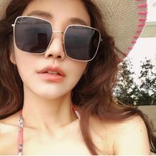 FENCHI women sunglasses frame Brand designer vintage fake oversized square classic ladies metal eyewear Oculos de sol