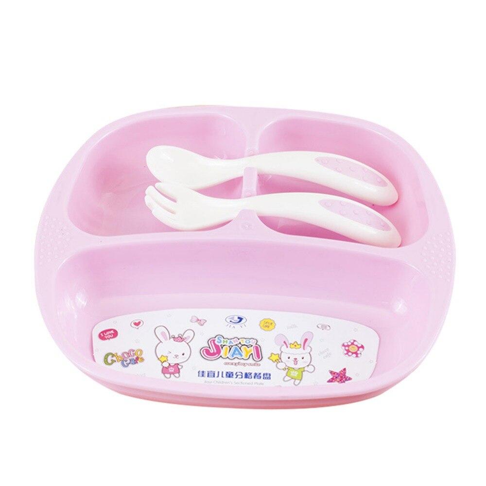 Ребенок посуда тарелка детский комплект одежды набор посуды блюда и наборы тарелок кормления вилка ложка посуда