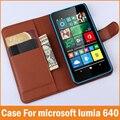 Новый Роскошный ИСКУССТВЕННАЯ Кожа Флип Чехол Для Microsoft Nokia Lumia 640 Случай Кошелек С Подставкой Держателя Карты Fundas Телефон Случаях Coque