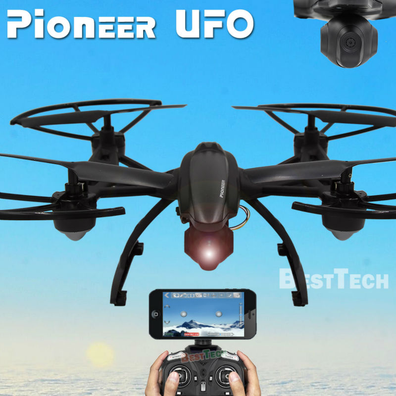 Pioneer UFO RC Drone With WIFI Camera 24G 4CH Remote Control Dron Quadrocopter Professional FPV Drones Support Real Time Video In Toys From