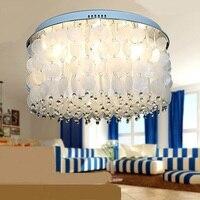 Простой Кристалл основа светодиодный Потолочные светильники теплый гостиная столовая спальня Домашнее освещение светильники потолочные