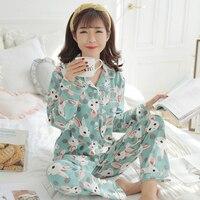 Pure Cotton Pregnant Pajamas Spring Autumn Breast feeding Thickening Pregnancy Pijama Maternity Pijamas