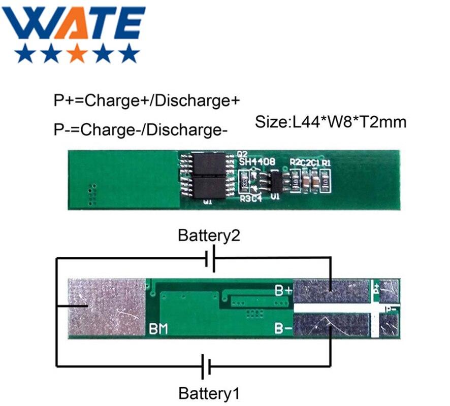 10 шт./лот защита цепи модуль 2 S 5A pcb PCM BMS Батарея защиты и управления 7.4 В литий-ионный <font><b>lipo</b></font> Батарея ячейки Пакет Бесплатная доставка