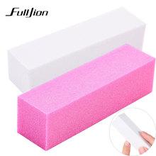 Fulljion 1 шт. розовый Форма ногтей Полировщики для ногтей файл для UV GEL белый пилочка для ногтей буферный блок Польский Маникюр Педикюр шлифовальные дизайн ногтей инструмент