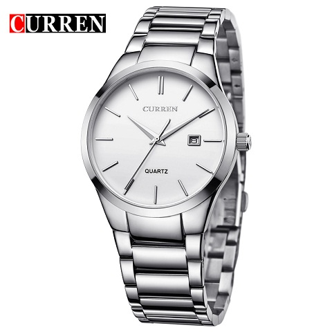 8106 Full Stainless Steel Analog Display Date Luxury Brand Men's Quartz Watch CURREN Business Watch Men Watch relogio masculino skmei luxury brand stainless steel strap analog display date moon phase men s quartz watch casual watch waterproof men watches