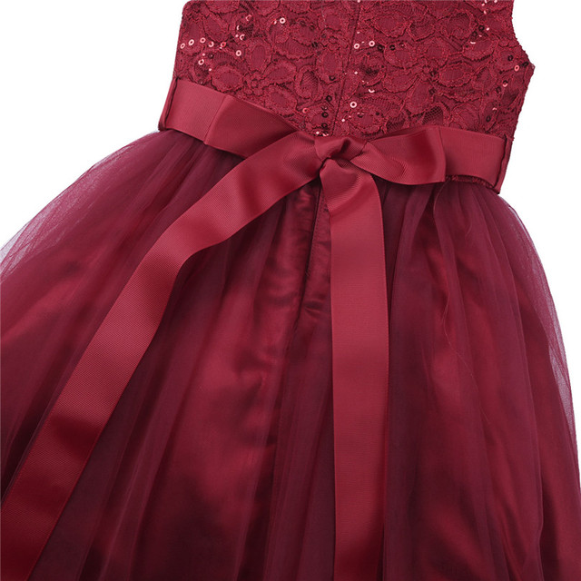 Mesh Tulle Sequin Flower Girl Dresses