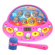 large size Whac-A-Mole Double battle&Music&Play notes&Hit game machine Attack Poke A Electronic Plastic Kids Christmas gift Toy