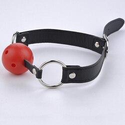Косплэй SM игры для взрослых Секс игрушки Фетиш сдерживающий эротические игрушки мяч кляп для рта для связывания партнера Кляпы для рта для ...