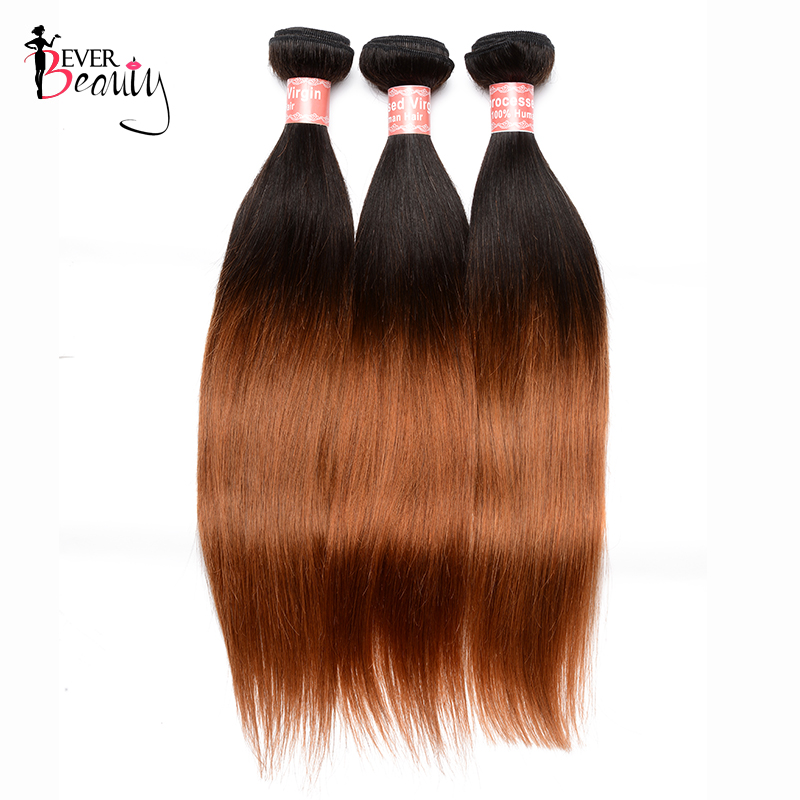 1B/30 Ombre Hair Bundles Brazilian Hair Weave Bundle Straight Remy Human Hair Weaving Extensions Ever Beauty Hair Products