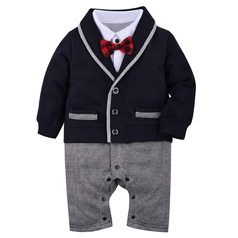 Oeak Baby Boys Clothes Suit Spring Autumn Long-Sleeved Lapel Stitching Color Jumpsuit Outwear Onesies Cotton Bow Tie RompersOeak Baby Boys Clothes Suit Spring Autumn Long-Sleeved Lapel Stitching Color Jumpsuit Outwear Onesies Cotton Bow Tie Rompers