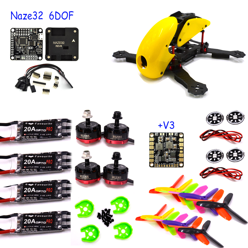 Robocat Carbon Fiber Quadcopter Frame Naze Rev6 6dof 10DOF Deluxe Flight Control Board  Emax RS2205 Motor littlebee pro 20A ESC feed motor board for roland rs 640