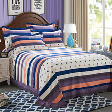 one piece cotton printing round corner bed sheet home bedding sheet full queen king for adults
