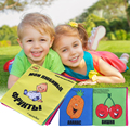 1 pcs Baby education cloth book Soft  cloth book toddler anti-tear book (yellow)  Kids Educational Bedding Book