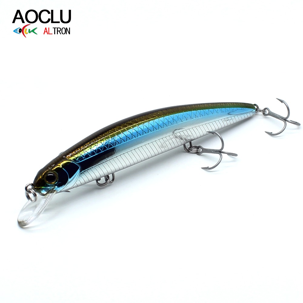AOCLU Wobblers Minnow Hard-Bait Vmc Hooks Long-Distance Fishing-Lures Casting with Magnet