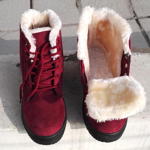 Women Boots 2017 Winter Boots Women Warm Fur Ankle Boots For Women Warm Winter Shoes Botas Mujer bota feminina