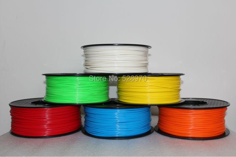 Filamento de impresora 3d PLA / ABS 1.75mm / 3mm 1kg moitos colores Consumibles Material MakerBot / RepRap / corn 3D pluma de impresión de alta calidade