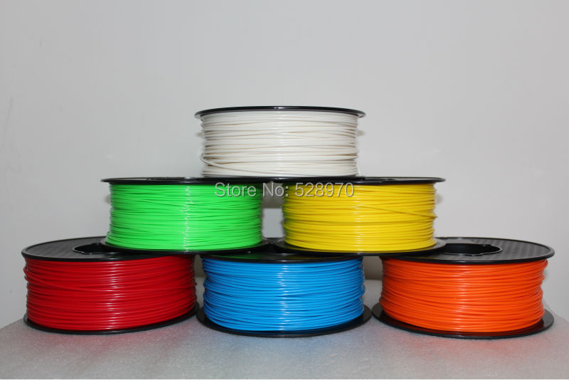 3d printer filament PLA/ABS 1.75mm/3mm 1kg many colors Consumables Material MakerBot/RepRap/kossel 3D printing pen high quality new 3d printer printing filament abs 1 75mm 1kg for print reprap color gold yellow