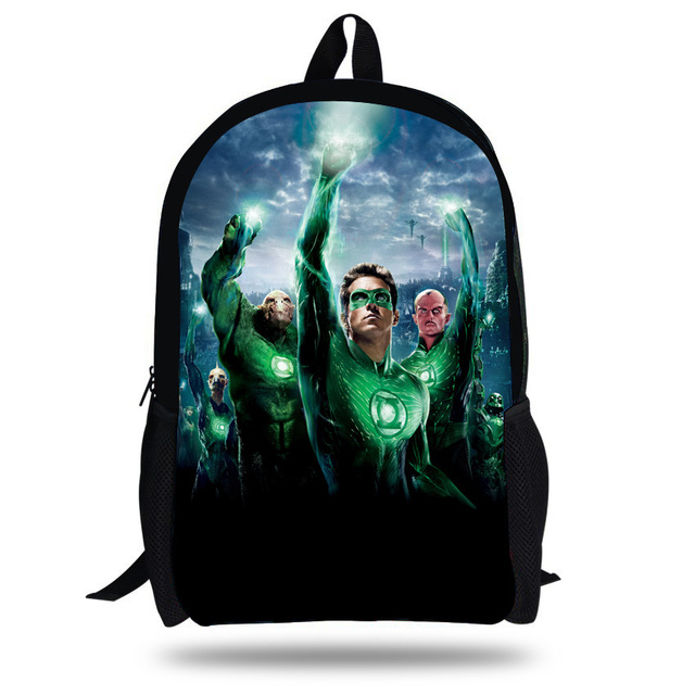 b38115453dc5 16-inch Superhero Backpacks For Boys Green Lantern School Bags For  Teenagers Children School Backpack Mochila Infantil Menino. 3 orders