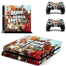 GTA Five  Vinyl Cover Decal PS4 Skin Sticker for Sony PlayStation 4 Console & 2 Controller Skins Stickers