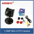 Mini Câmera Mini Bala 1.3MP AHD 960 P 1080 P HD AHD 1.3MP CÂMERA de Segurança CCTV Lente Da Câmera 3.7mm preto
