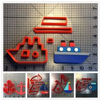 Traffic Tools Boat Anchor Series Custom Made 3D Printed Fondant Cupcake Top Cookie Cutter Set