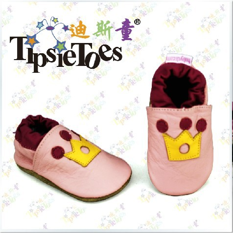 Tipsietoes Brand Crown Soft Baby Kids Crib Toddler Shoes Moccasins Girls Princess First Walkers New 2017 Autumn Spring Fashion
