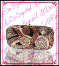 Aidocrystal gold paisley-muster frauen kupplung handtasche für party