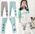 Free shipping 5 pieces/lot Special Prince for girl thickened cashmere stars and circles printed all-matched winter pants