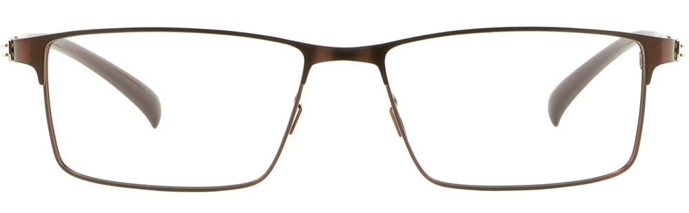 Leichte Herren Damen Brille Sqaure Brillengestell Titan Metall Fassung Braun