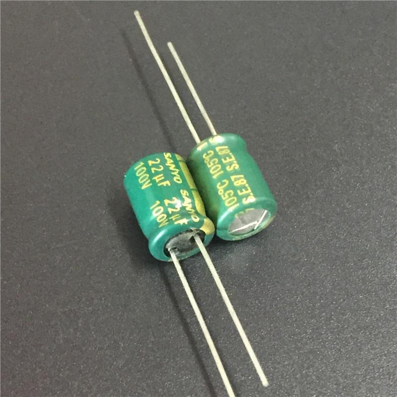 100pcs 22uF 100V Sanyo AX Series 8x11.5mm 100V22uF Low Impedance LongLife Electrolytic Capacitor