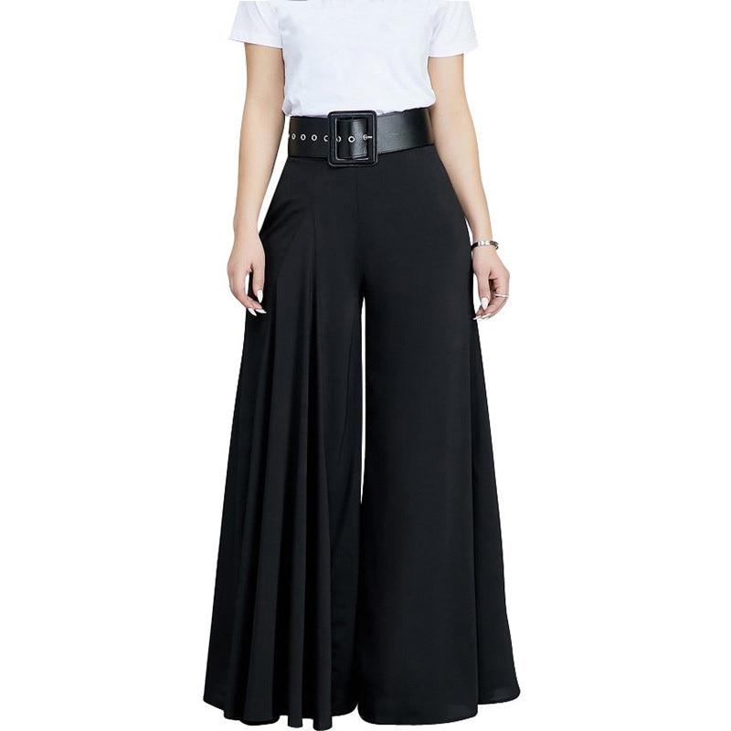 Women Casual Loose Pleated   Wide     Leg     Pants   Palazzo   Pants   Autumn Hight Waist Elegant Pantalon Office Ladies Trousers with Pockets