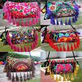 Ethnic Embroidery Bags Double Side Embroidered Shoulder Messenger Bag Tassel Clutch Cover Handbags National Characteristics
